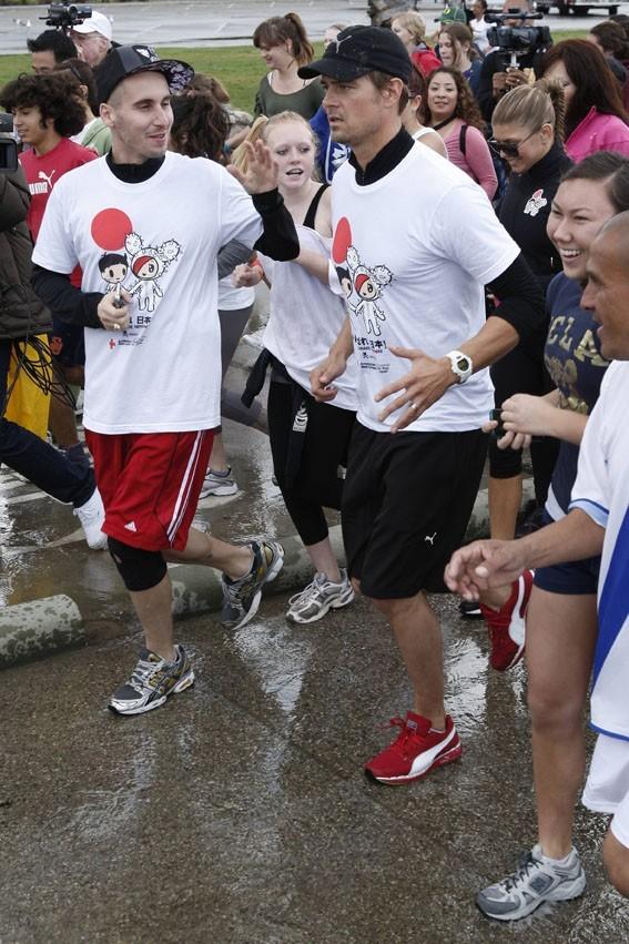 Josh Duhamel lors du Tokidoki Relief Run For Japan à Santa Monica, le 27 mars 2011.
