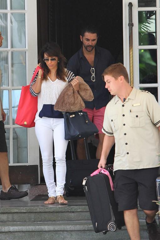 Eva Longoria avec son boyfriend Jose Antonio Baston à Miami le 2 mai 2014