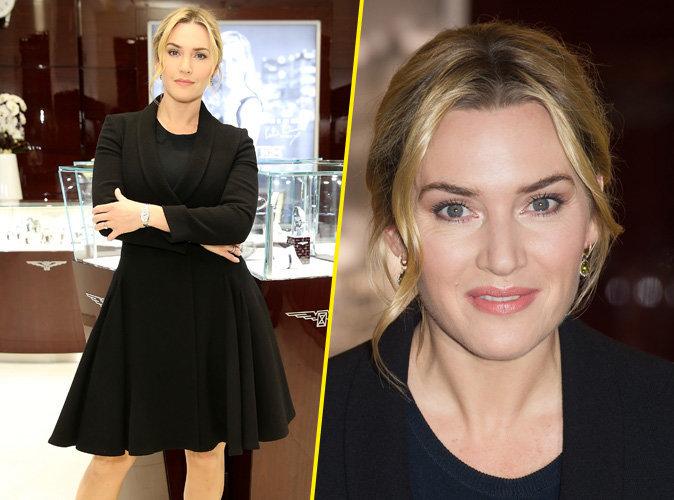 Kate Winslet : �l�gante et classe pour l'inauguration d'une boutique de luxe