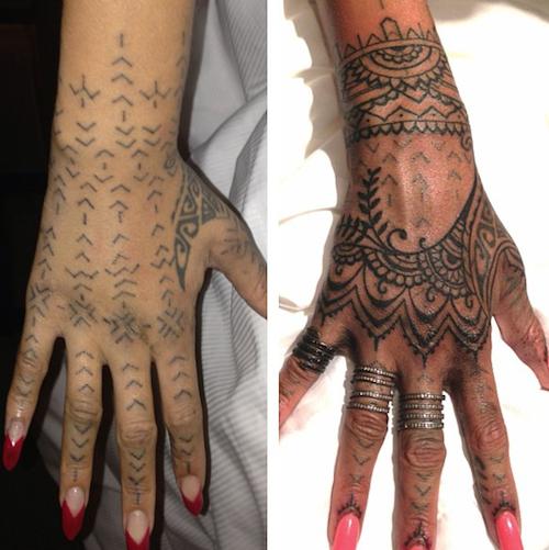 Photos : Rihanna : tout ce qu'elle est prête à faire pour un nouveau tatouage !
