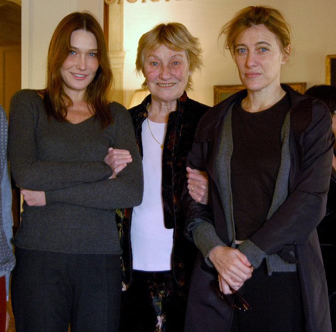 Carla Bruni, sa mère Marisa Bruni-Tedeschi, sa soeur Valeria Bruni Tedeschi
