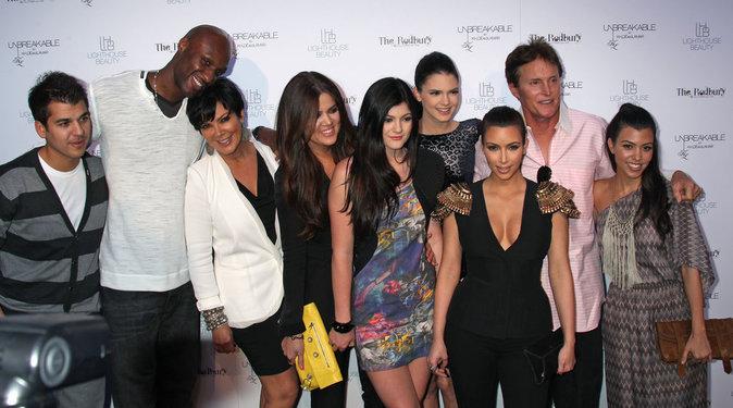 Kris Jenner entourée de la famille Kardashian Jenner