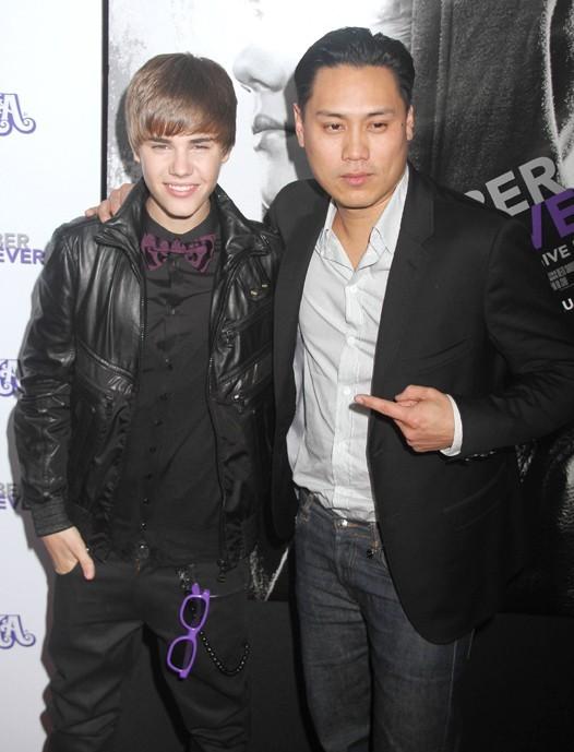 Avec le réalisateur de Never Say Never, Jon Chu.