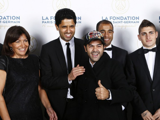 Anne Hidalgo, Nasser Al-Khelaifi, Jamel Debbouze, Lucas et Marco Verratti