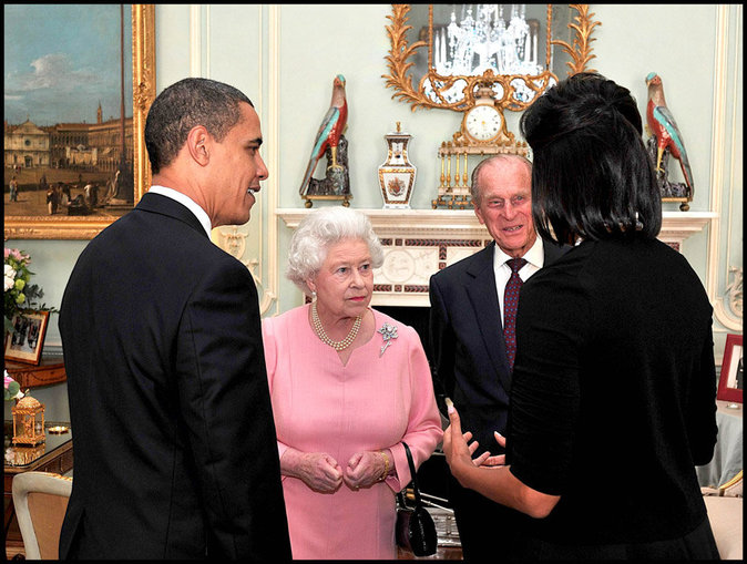 Avec Michelle et Barack Obama