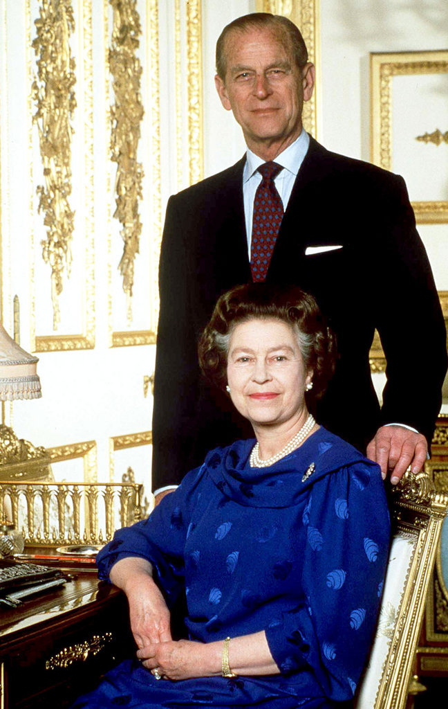 Elizabeth II avec son mari Philip Mountbatten