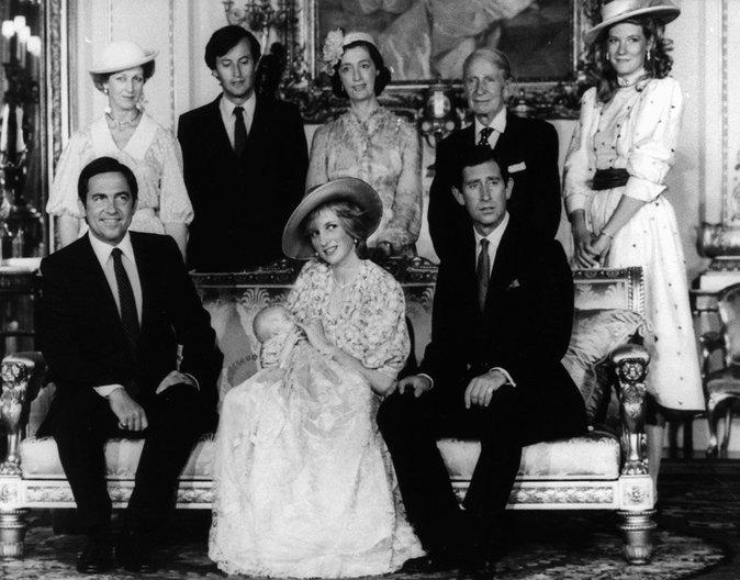 La famille au complet avec le Prince William, premier petit fils d'Elizabeth II