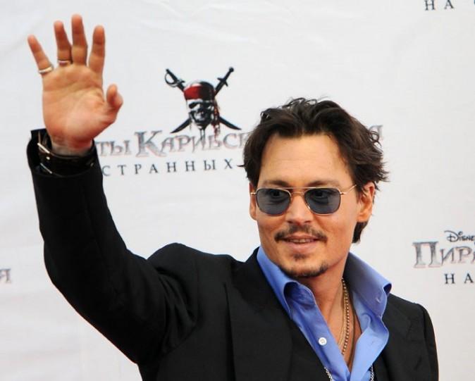 Johnny Depp lors de la première de Pirates des Caraïbes à Moscou, le 11 mai 2011.