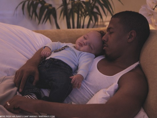 Moroccan et son papa Nick Cannon !