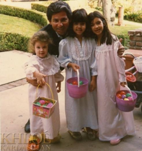 Robert Kardashian et ses princesses