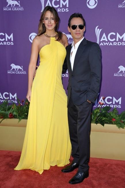 Marc Anthony et Shannon De Lima lors de la soirée des ACM 2012 à Las Vegas, le 1er avril 2012.