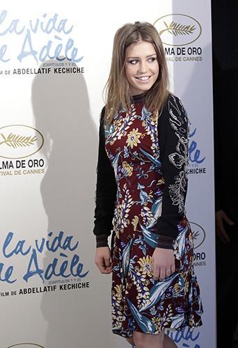 Adèle Exarchopoulos à Madrid le 22 octobre 2013