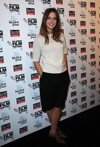 Adèle Exarchopoulos à Londres le 14 octobre 2013
