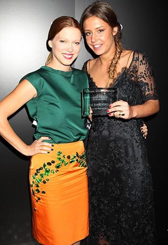 Léa Seydoux et Adèle Exarchopoulos à New-York le 7 janvier 2014
