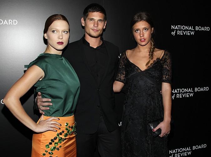Léa Seydoux, Jérémie Laheurte et Adèle Exarchopoulos à New-York le 7 janvier 2014