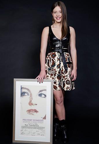 Adèle Exarchopoulos à Paris le 7 avril 2014