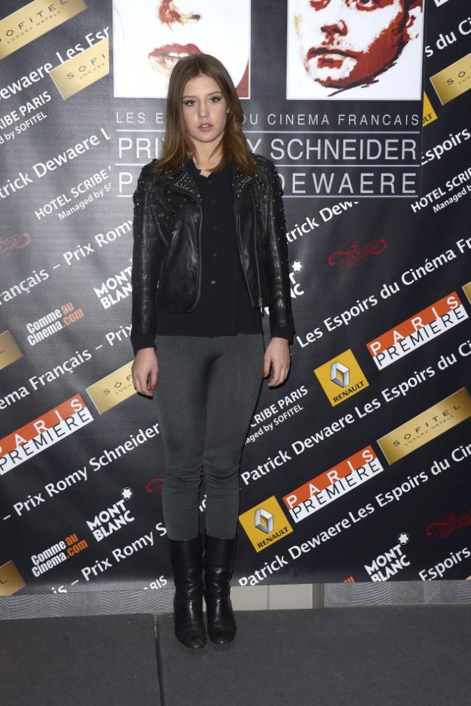 Adèle Exarchopoulos lors de la conférence de presse de la remise des prix Romy Schneider et Patrick Dewaere à Paris, le 10 mars 2014.