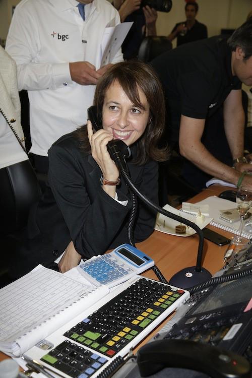 Valérie Bonneton lève des fonds en hommage aux victimes des attentats du 11/09, à Paris le 11 septembre 2014