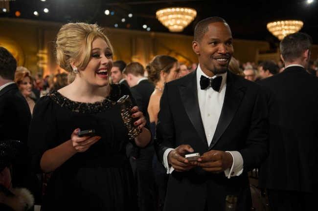 Adele et Jamie Foxx le 13 janvier 2013