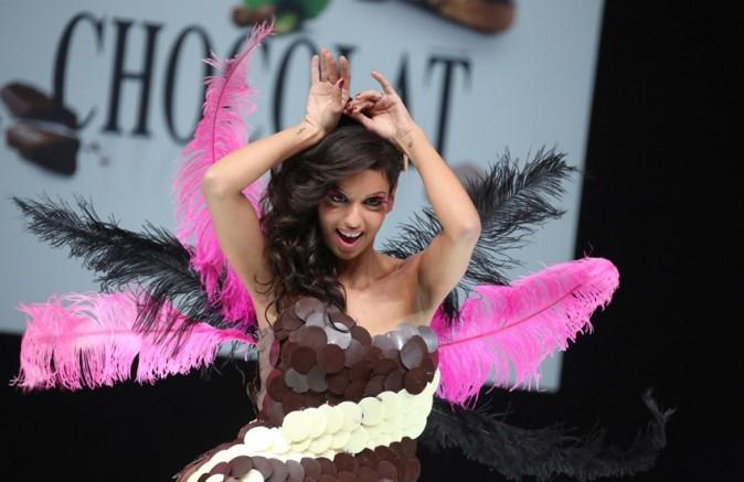 Tal au défilé du salon du chocolat à Paris le 30 octobre 2012