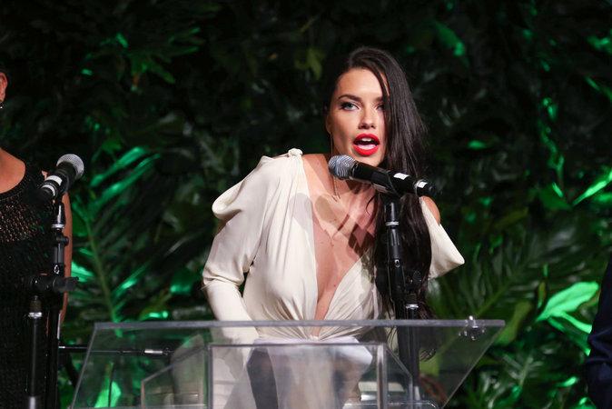 Photos : Adriana Lima prononce un discours pour le Brésil en décolleté plongeant, à Miami