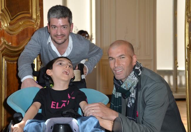 Grégoire et Zinédine Zidane à Paris le 3 juin 2015
