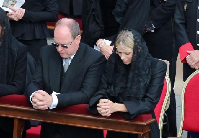 Albert et Charlène de Monaco à la messe inaugurale du pape François à Rome le 19 mars 2013