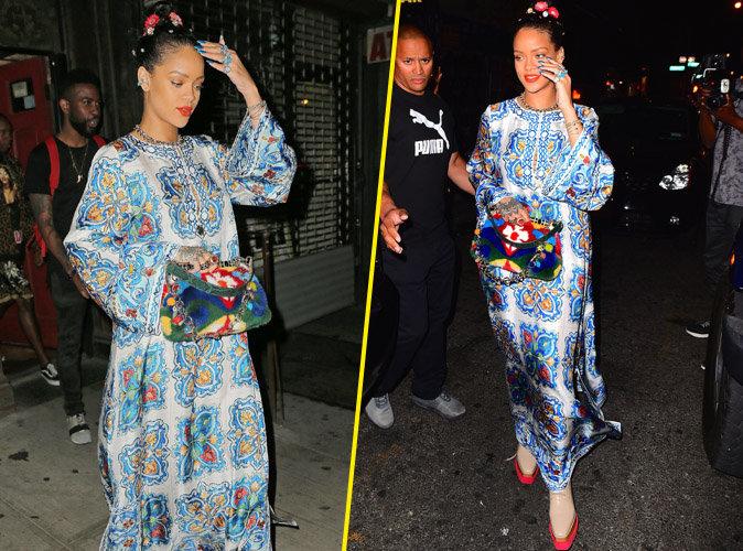 Rihanna se la joue geisha en robe longue dans les rues de New York !