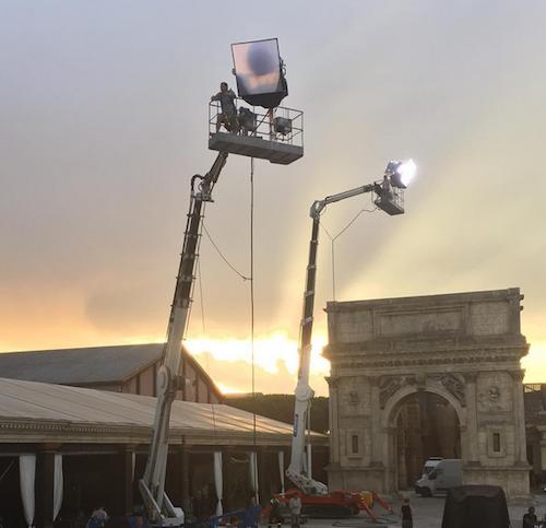 Shooting Victoria's Secret à Rome, en juillet 2015