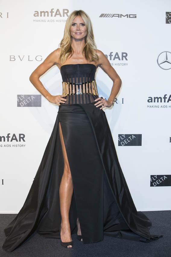 Heidi Klum au gala de l'AmfAR organisé à Milan le 20 septembre 2014