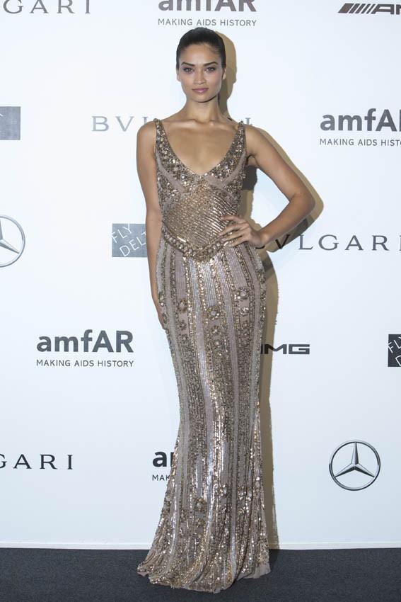 Shanina Shaik au gala de l'AmfAR organisé à Milan le 20 septembre 2014