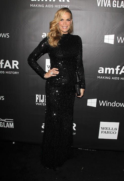Molly Sims au gala de l'AmfAR, le 29 octobre 2014 à Los Angeles