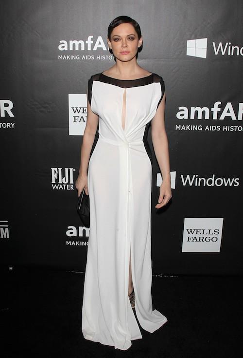Rose McGowan au gala de l'AmfAR, le 29 octobre 2014 à Los Angeles