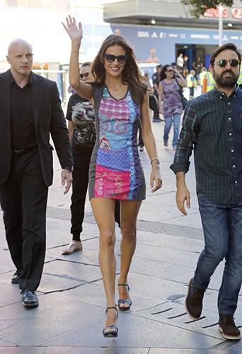 Alessandra Ambrosio à Madrid le 11 septembre 2014