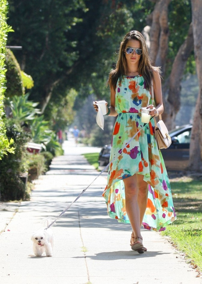 Alessandra Ambrosio à Brentwood, le 16 septembre 2012.