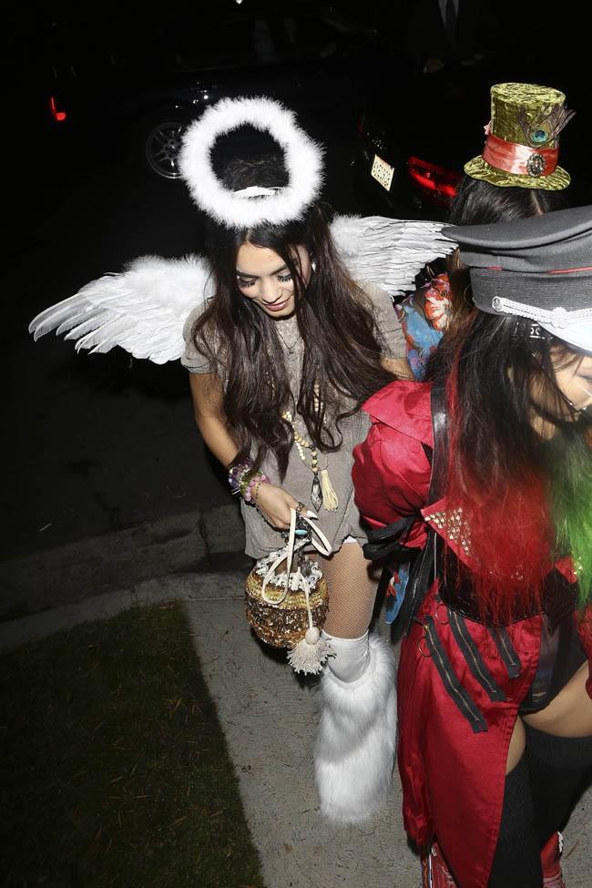 Vanessa Hudgens à une soirée d'Halloween organisée à Beverly Hills le 25 octobre 2013