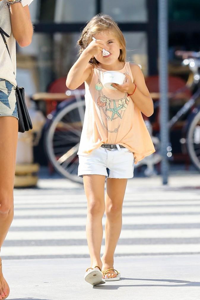 La fille d'Alessandra Ambrosio à Los Angeles le 20 août 2014