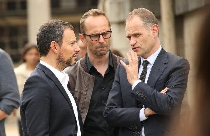 Photos : Marc-Olivier Fogiel, Fabien Namias : le monde de la télé dit au revoir à Emmanuel Maubert