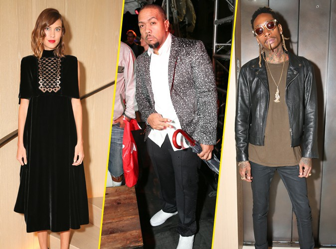 Alexa Chung, Timbaland et Wiz Khalifa à New York le 10 septembre 2015