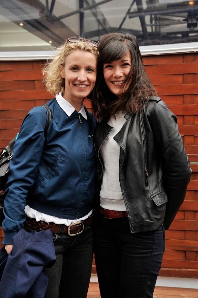 Alexandra Lamy et Mélanie Doutey à Roland Garros, le 2 juin 2013
