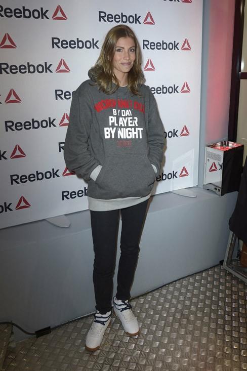 Alexandra Rosenfeld à la soirée Reebok organisée à Paris le 4 décembre 2013