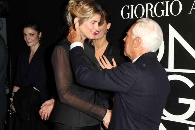 Alice Taglioni au défilé haute-couture Giorgi Armani organisé au Palais de Tokyo le 21 janvier 2014