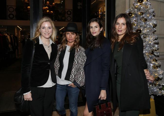 Axelle Laffont, Louise Monot, Zoé Félix et Natacha Régnier à Paris le 18 novembre 2014