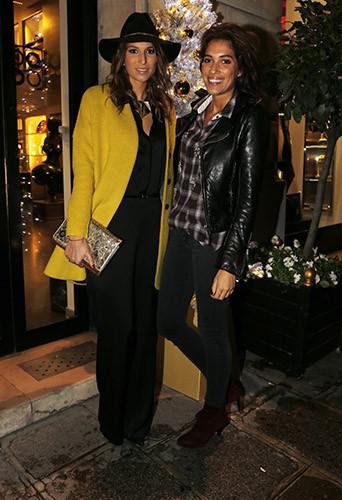 Laury Thilleman et Laurie Cholewa à Paris le 18 novembre 2014