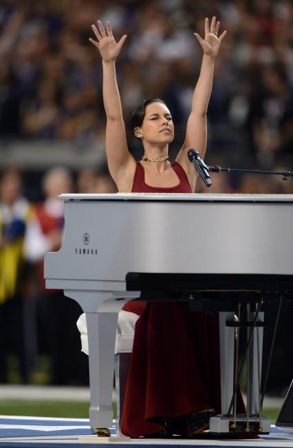 Alicia Keys lors du Super Bowl à la Nouvelle-Orléans, le 3 février 2013.