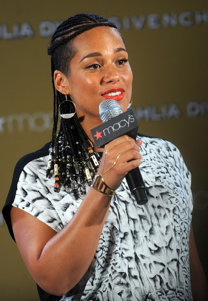 Alicia Keys à New-York le 2 septembre 2014