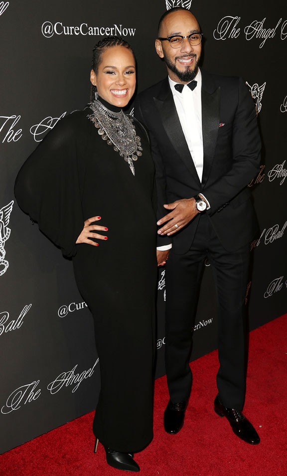 Alicia Keys et Swizz Beatz au gala de charité Angel Ball organisé à New-York le 20 octobre 2014