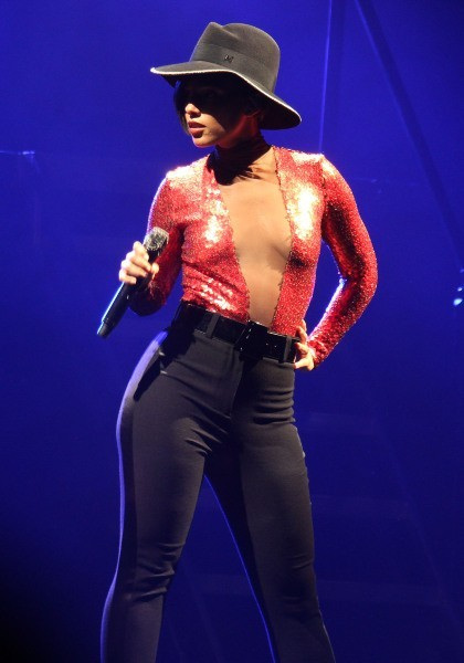 Alicia Keys en concert à Dublin, le 22 mai 2013.
