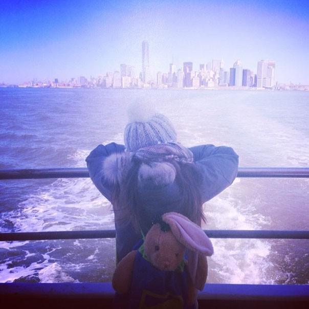 Alizée en vacances à New-York sa fille Annily et son chéri Grégoire Lyonnet