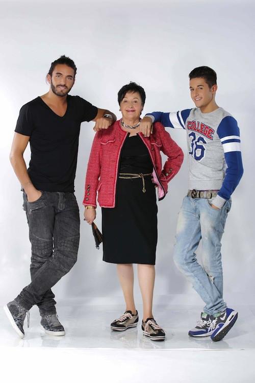 Thomas Vergara, Tarek Benattia et Livia posent pour la saison 2 d'Allo Nabilla